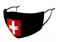 Stoffmaske mit Schweizerkreuz
