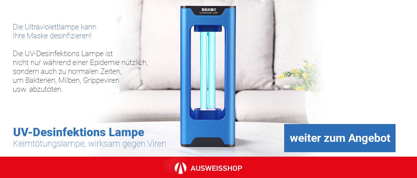 UV-Desinfektions Lampe, Keimtötungslampe, wirksam gegen Viren